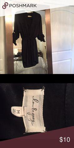 Shirtdress from loft Black shirtdress from loft. Medium LOFT Dresses Mini