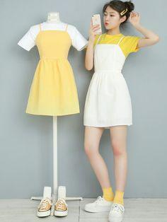 Korean Girl Fashion, Korean Fashion Trends, Ulzzang Fashion, Kpop Fashion Outfits, Girls Fashion Clothes, Korean Outfits, Mode Outfits, Asian Fashion, Fashion Dresses