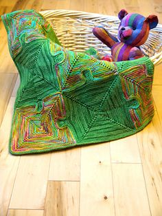 Knitted Puzzle Baby Blanket pattern by Paula Levy...love this design!