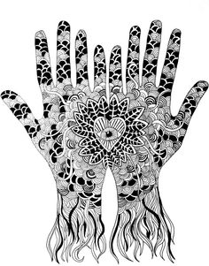All Seeing Hands by PrintsbyJessie on Etsy