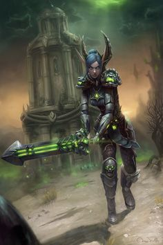World of Warcraft Art World Of Warcraft Game, World Of Warcraft Characters, Warcraft 3, Fantasy Characters, Elf Warrior, Fantasy Warrior, Character Art, Character Design, Elf Art