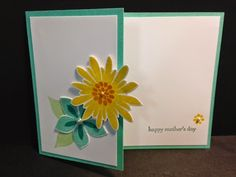 Flower Patch, Mother's Day Card, Stampin' Up!, Rubber Stamping, Handmade Cards, Great Stamp a Stack card