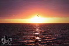 "Sunset Kiteboarding at ""Canadian Hole"" aka ""Kite Point"" between Buxton and Avon, NC on 2.21.12 | #kitepoint #canadianhole #kiteboarding"