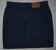 Polo Ralph Lauren Country Navy Blue Denim Skirt  Vintage Misses Size 10