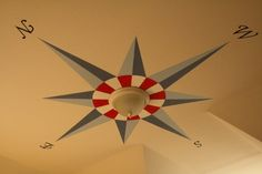 Ceiling Compass Mural  by Angie Harrison  Halo Home Staging and Design  Dallas, Texas  www.halohomestaging.com