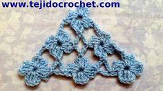Chal en tejido crochet con Punto Margarita tutorial paso a paso. ✿⊱╮Teresa Restegui http://www.pinterest.com/teretegui/✿⊱╮