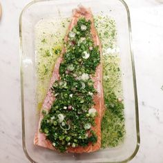 Brita's Roasted Salmon with Green Herbs