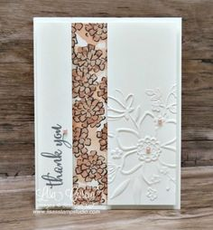 Love What You Do, Share What You Love Specialty DSP, Lovely Floral Dynamic EF, Share What You Love Artisan Pearls - Video tutorial - Split Panel Thank You Card