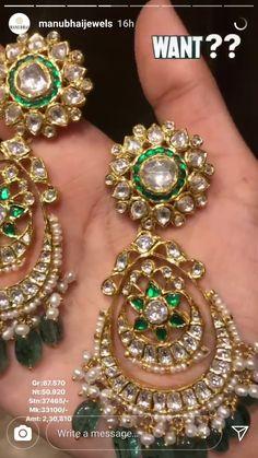 Jewelry Design Earrings, Gold Earrings Designs, Cuff Jewelry, Gold Jewellery Design, Wedding Jewelry, Gold Jewelry, Rajputi Jewellery, Jewelry Patterns, Studs
