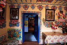 Traditional but vanishing painted interiors. Zalipie (south of Poland)