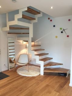 I don't what is that this, however it appears to be like fucking superior! Loft Stairs, House Stairs, Interior Staircase, Staircase Design, Staircase Metal, Bedford House, Escalier Design, Modern Mountain Home, Wooden Stairs