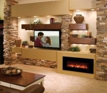 Modern Flames Fantastic Flame Linear Electric Fireplace - Wall Mount or Recessed Wall Mount Electric Fireplace, Fireplace Wall, Fireplace Design, Electric Fireplaces, Fireplace Ideas, Tv With Fireplace, Off Center Fireplace, Fireplace Whitewash, Linear Fireplace