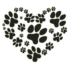 Dogs paw tattoo etsy 58 New ideas Animal Footprints, Photo Chat, Le Far West, Dog Paws, Kitty Paws, Puppy Paw, Dog Quotes, Silhouette Projects, Silhouette Cameo