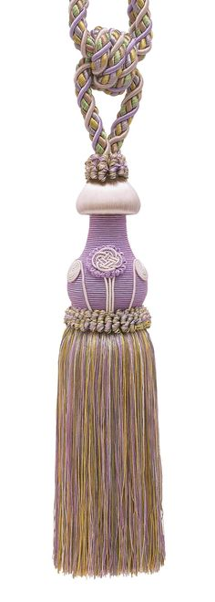 """Decorative Lilac Gold Curtain & Drapery Tassel Tieback /12"""" tassel, 32"""" Spread (embrace), 7/16"""" Cord, Baroque Collection Style# TBBL-1 Color: Winter Lilac 8426"""