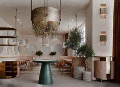 LORETO Kitchen & Bar on Behance Design Lab, Cafe Design, Restaurant Interior Design, Home Interior, Interior Architecture, Restaurant Layout, Rustic Restaurant, Deco Floral, Hospitality Design