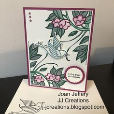 J J Creations, Stampin'Up!, Handstamped Cards, Serene Garden