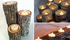 Creative Upcycled Crafts and Decor Log Decor, Rustic Decor, Diy Home Decor, Earthy Decor, Rustic Room, Diy Decoration, Natal Natural, Ideias Diy, Cool Art Projects
