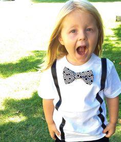 FANCY SCHMANCY BOWTIE & Suspenders Outfit Baby by PomPomFairytale, $29.99