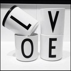 Design Letters - L O V E @DESIGN LETTERS Design Letters, Lettering Design, Letter L, Danish Design, E Design, Mugs, Tableware, Dinnerware, Tablewares