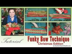 How to Make A Funky Bow -Christmas Edition | Southern Charm Wreaths (use up your ribbon scraps!)