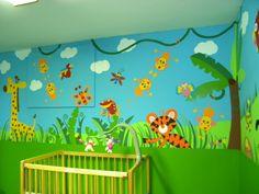 Mural daycare center bathroom Daycare Center Pinterest