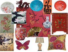 oriental moodboard