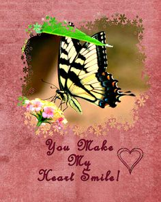 You Make My Heart Smile..Greeting Card by Linda Cox available at: http://linda-cox.artistwebsites.com/