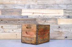 Vintage Wood Crate, Hydrox Beverages Crate, Chicago Crate, Antique Wooden Box on Etsy, $75.00