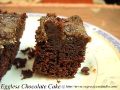 Flaxseed Buttermilk Chocolate Cake (eggless) Recipe