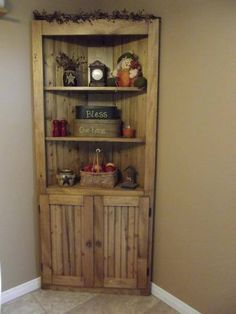 Make A Corner Useful Rustic Country Wood Pine Cupboard Do It Yourself Home Projects Furniture Plans From Ana White