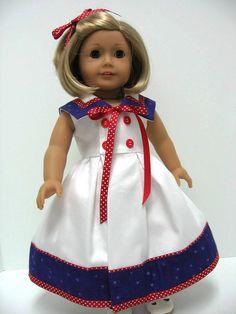 Reserved for US 1980   1950s Sailor Dress by karenstinytreasures