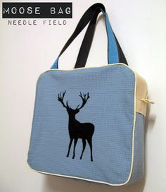 Needle Field: Boxy Bag Pattern & Tutorial all machine sewn except for opening to turn Diy Sac, Bag Patterns To Sew, Quilting Patterns, Carry All Bag, Fabric Bags, Sew Bags, Sewing Tutorials, Tutorial Sewing, Sewing Tips