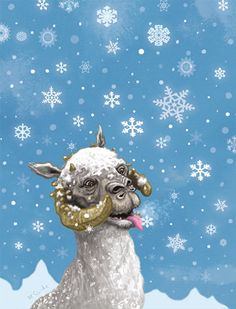 Star Wars Christmas Card Tauntaun by CastleMcQuade on Etsy