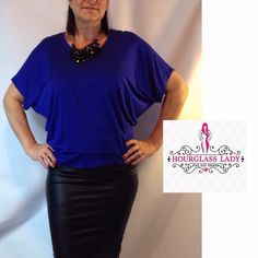 """PLUS 3X❤️Cobalt Dolman Flutter Blouse PLUS SIZE Dolman Flutter Blouse Available in 4 colors, Cobalt, White, Red, Black Great for layering under Blazers or worn alone Perfect for office with easy transition to evening  Size 3X Cobalt Waistband approx 21"""" across (unstretched), 27"""" long 95% Modal, 5% spandex, very stretchy but will hold shape  Price firm unless bundled Create a bundle for 15% off! Thanks for looking✌️❌NO PAYPAL❌NO TRADES❌ Hourglass Lady Tops"""