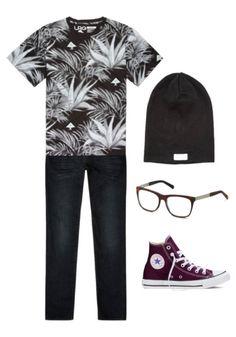 Magst du Outfits im Street Style? Das könnte dir gefallen: Ein gemustertes T-Shirt, Casual Sneakers und eine Brille von rocco by Rodenstock und schon siehst du dieses Frühjahr unglaublich gut aus.