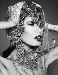 beauty editorial featuring JASLENE GONZALEZ (America's Next Top Model Winner)