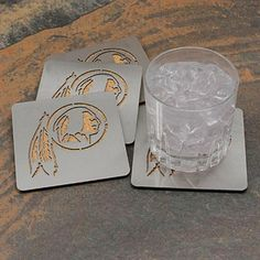 Washington Redskins 4-Pack Boasters Stainless Steel Coasters