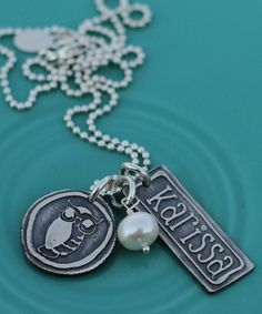 New #sorority themed necklaces by the vintage pearl! Great rush and/or big sis/ little sis... ZTA