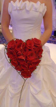 Amore Flowers~ Heart shaped rose bouquet www.AmoreFlowersbyKatie.com