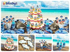 Start here for over 100 #Shark party ideas for your next party with Shindigz!http://www.pinterest.com/shindigz/shark-party-ideas/