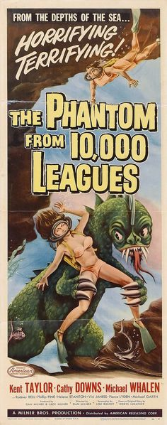 1955 the phantom from 10,000 fathoms. #scifi #monster