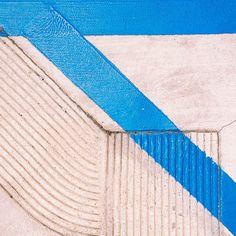 #blue #stripe #pavement #concrete photo by happymundane on instagram