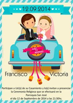 Wedding invitations. Tarjetas invitaciones para boda disponibles en http://www.elsurdelcielo.com