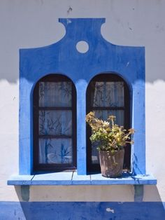 Window Detail, Alte Village, Algarve, Portugal Photographic Print by Jon Arnold at AllPosters.com