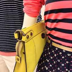 Spring is all around us- dots, stripes and color pops! #Fossil #Spring #Style  Register to Win Here: http://on.fb.me/Y44D7O