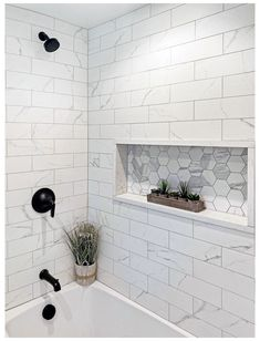 Kadilak Homes Blog. Real Estate & Home Renovation Burlington MA. #shower #tile #designs #modern #showertiledesignsmodern When our clients purchased their home a few years ago it was perfect, but as their family expanded, they started to feel the walls closing in on them! They wanted to create a family bathroom that they could grow into for years to come but they needed to take away their walk-in closet to get the… Upstairs Bathrooms, Hall Bathroom, Bathroom Renos, Family Bathroom, Remodel Bathroom, Bathroom Remodeling, Remodeling Ideas, Bathroom Shower Tiles, Master Shower Tile