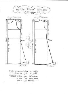 Molde de vestido evase simples