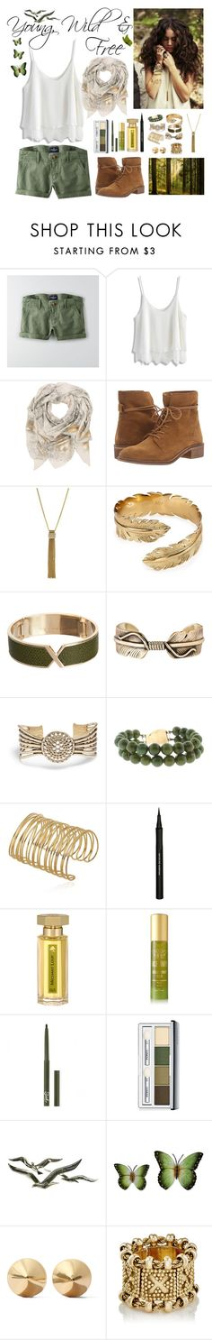"""""""Young, Wild & Free"""" by whims-and-craze ❤ liked on Polyvore featuring American Eagle Outfitters, Chicwish, Sophie Darling, Steve Madden, Jessica Simpson, Melinda Maria, Valextra, Pamela Love, Lucky Brand and ZOEVA"""