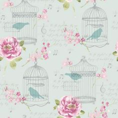 Alice Wallpaper - Pink and Teal at Homebase -- Be inspired and make your house a home. Buy now.