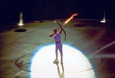 A punto de arder la llama del pebetero, 1992